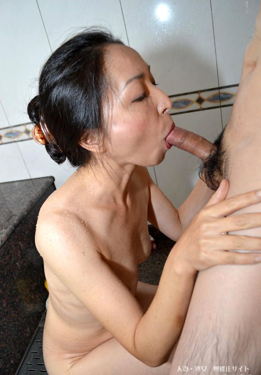 Ai kurosawa japanese milf wakes up to give double blowjob 4