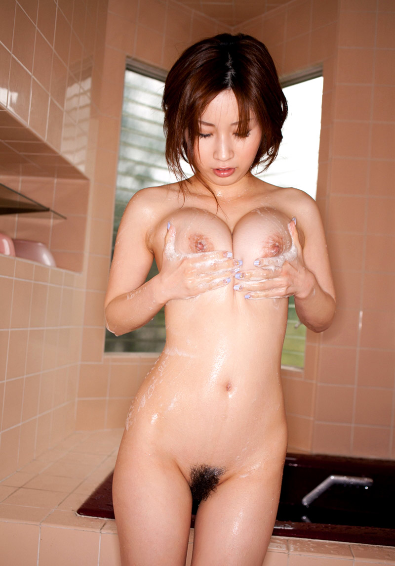image Japanese av model has nipples pinched and hai